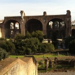 BASILICA OF CONSTANTINE AND MAXENTIUS VIEWED FROM THE PALATINE