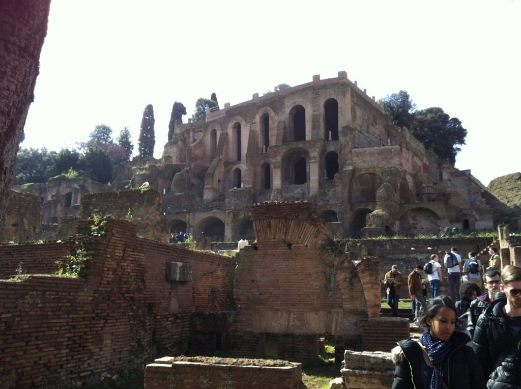 PALATINE HILL FROM THE FORUM ROMANUM