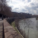RIVER TIBER TOWARDS WHARFS