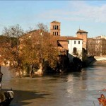 TIBER ISLAND IN FLOOD